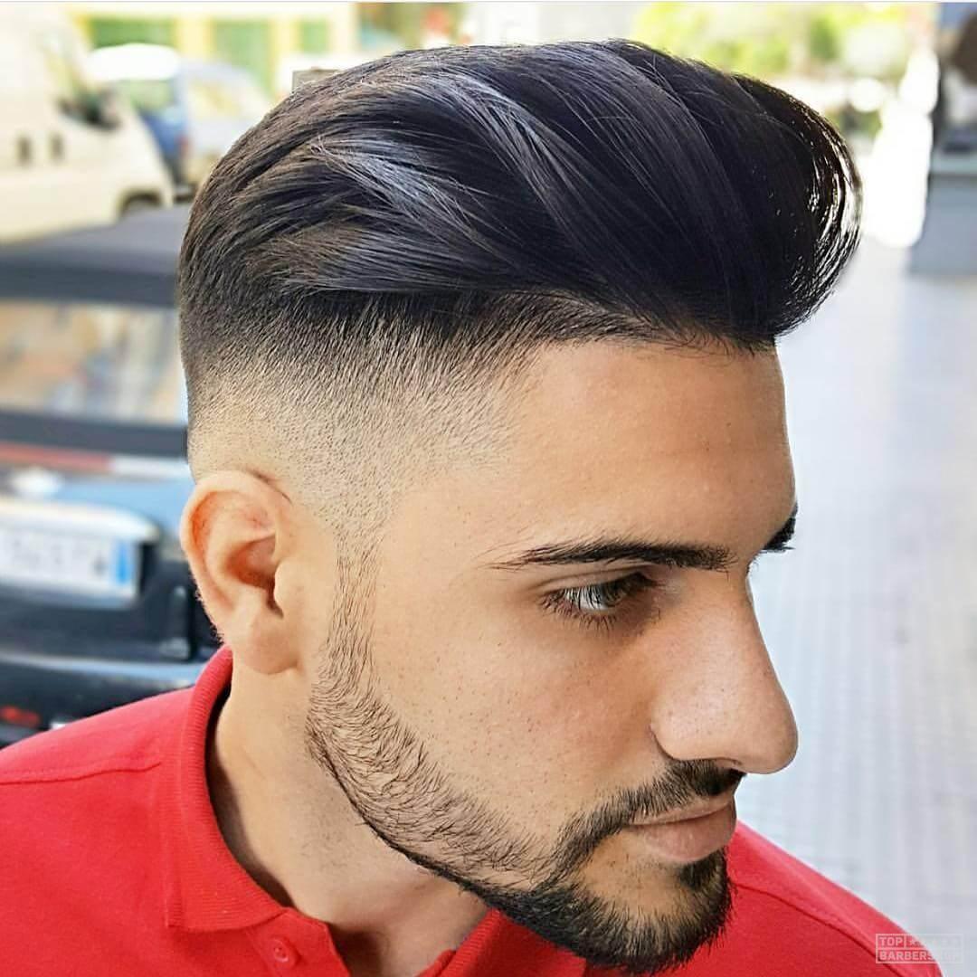 Фото причёски помпадур